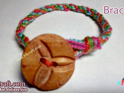 "Learn How to make Thread ""Bracelet"" at Home - K4Craft.com"