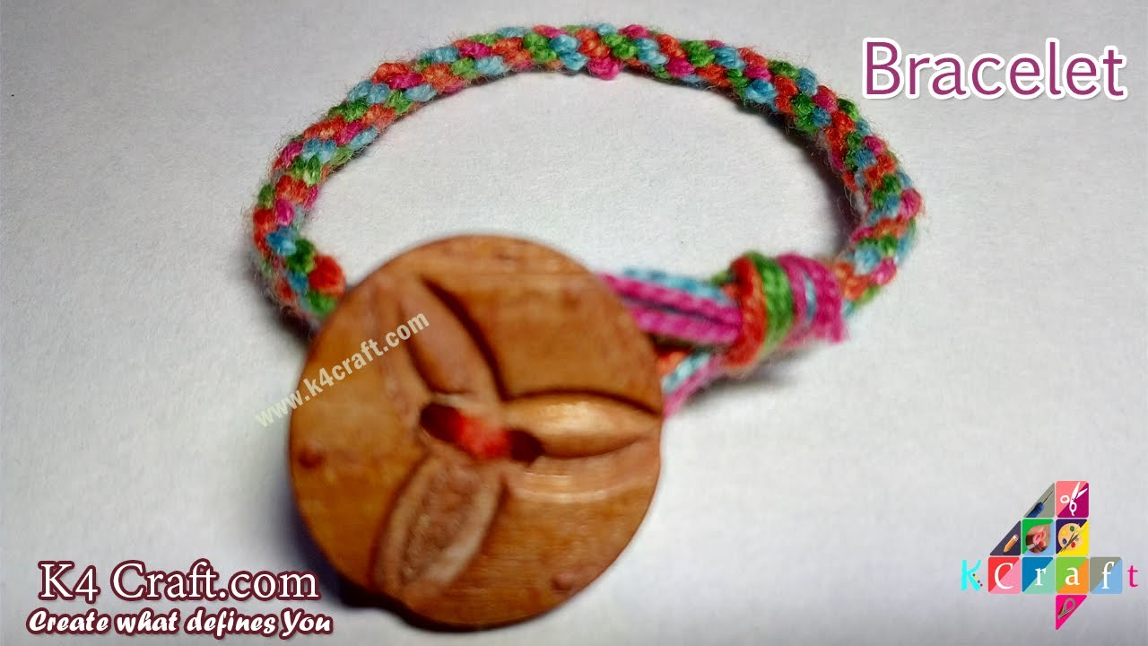 """Learn How to make Thread """"Bracelet"""" at Home - K4Craft.com"""