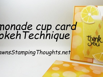 Lemonade Cup Card  with Apple of My Eye stamp set from Stampin'Up!