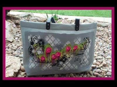 #lovesummerart How to Paint your Summer Bag in Mixed Media Style