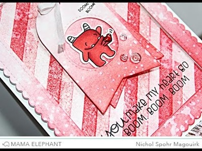 Mama Elephant   Monster Jam Love Themed Card