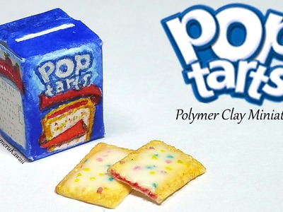 Miniature Pop Tarts inspired Tutorial - Polymer Clay & Paper