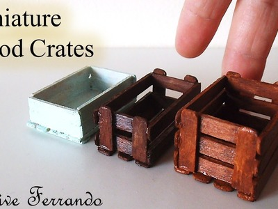 Miniature Real Wood Crates.Box Tutorial