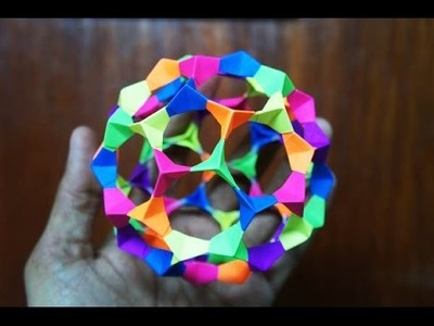 Modular Origami - How to make Modular Football Sphere Origami