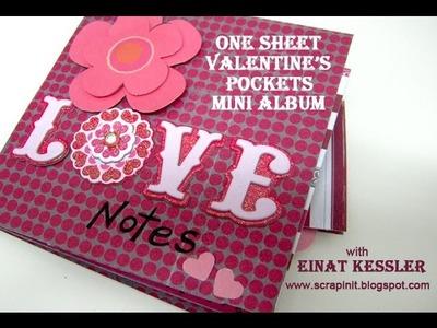 One Sheet Valentine's Pockets Mini Album