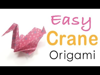 Origami Paper Easy Crane Tutorial - Origami Kawaii