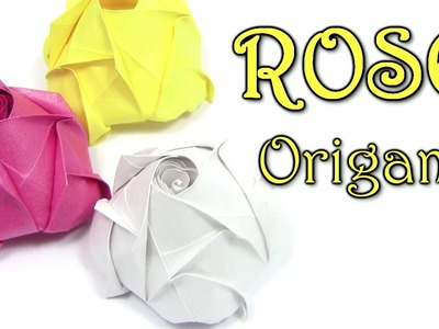 Origami ROSE Beautiful easy simple - Yakomoga Origami tutorial