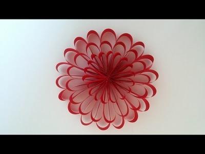 Paper flower. DIY party  flowers decor, home decor . Kids project