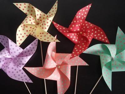 Pinwheels for kids. How to make paper pinwheels