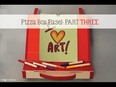 Pizza Box Easel - Part 3|Sophie's World