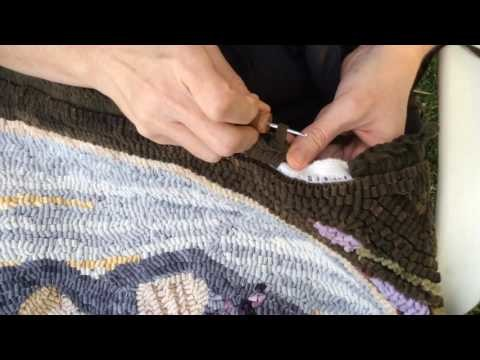 Rug Hooking- How To Crochet the Edge of a Hooked Rug