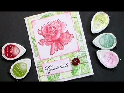 Stamp School #2 How to ink a Stamp {one sheet card!}