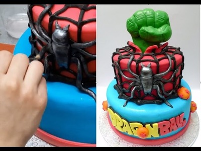 SUPERHEROES CAKE - HOW TO. Birthday Cake Ideas by CakesStepbyStep