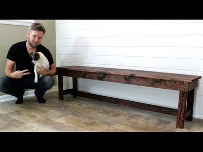 The $20 Farmhouse Bench - DIY Project