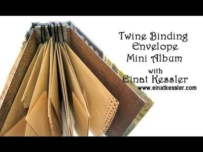 Twine Binding Envelope Mini Album