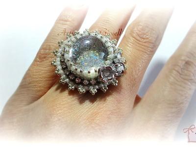 Anelli con gemme di vetro e perline |  Nail Polish Gems