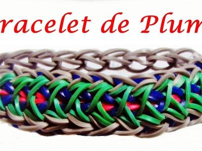 Bracelet Elastique - Plume || Tuto Rainbow Loom (Francais). loom bands