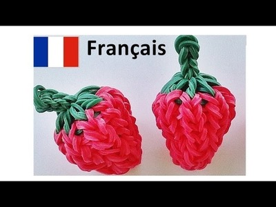 Bracelet Elastique. Rainbow Loom Francais : Fraise    loom bands Francais