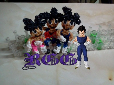 Como hacer a Vegetta ((Dragon Ball)) con gomitas.(Rainbow Loom)