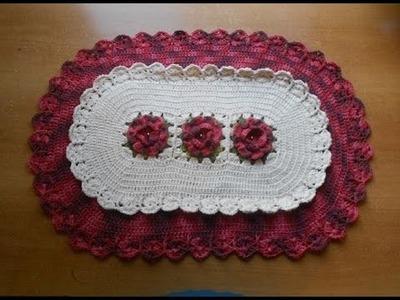 Croche Tapete com Flores e Babadinhos Parte 1