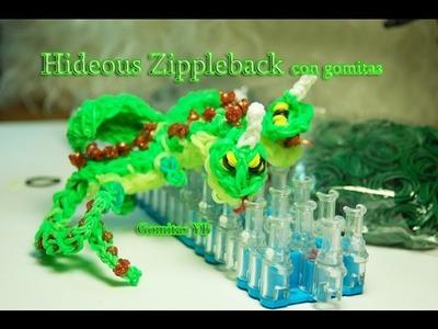 Hideous zippleback con gomitas. Cremallerus espantosus. Rainbow Loom