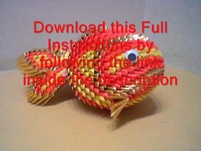 Howto 3d origami koi fish