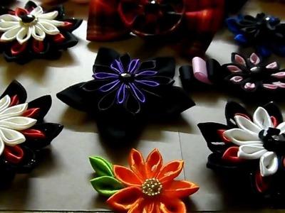 Mis flores Kanzashi