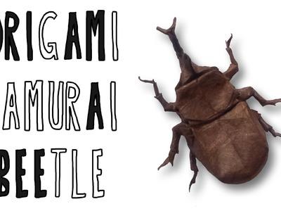 Origami Samurai Helmet Beetle (Riccardo Foschi)