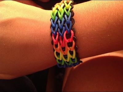 Tutorial: braccialetto rainbow loom bands a catena tripla! [Spiegazione in italiano] *---*