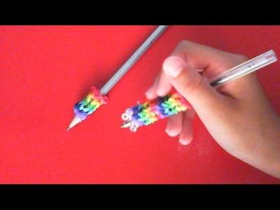 Tutorial impugna matite fatto con i rainbow loom bands :) [Spiegazione in Italiano]
