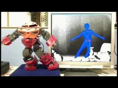 [V-Sido] Control the Humanoid Robot by Kinect