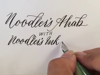 Writing Modern Calligraphy with a Noodler's Ahab Flex Fountain Pen