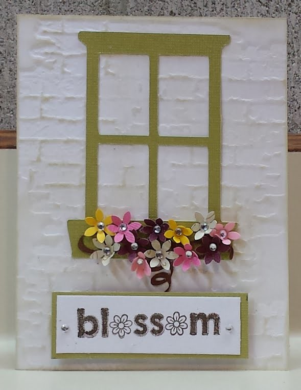Blossoming Window Handmade Card