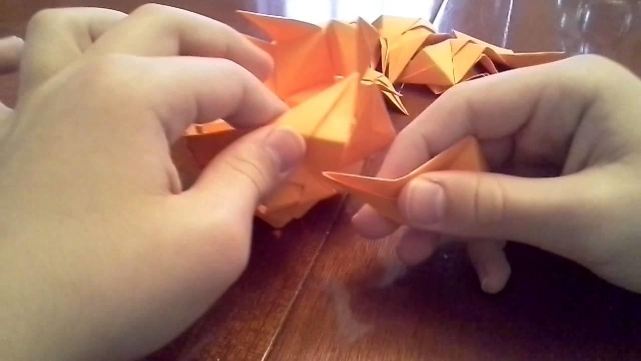 """Cool origami """"trispike ball"""""""
