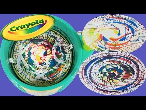 Crayola Spin Art Maker DIY Spinning Swirls Art with Primary Colors