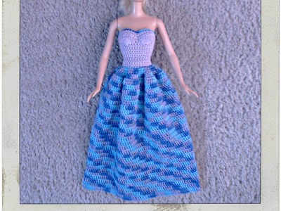 Crochet - Barbie's Strapless Gown