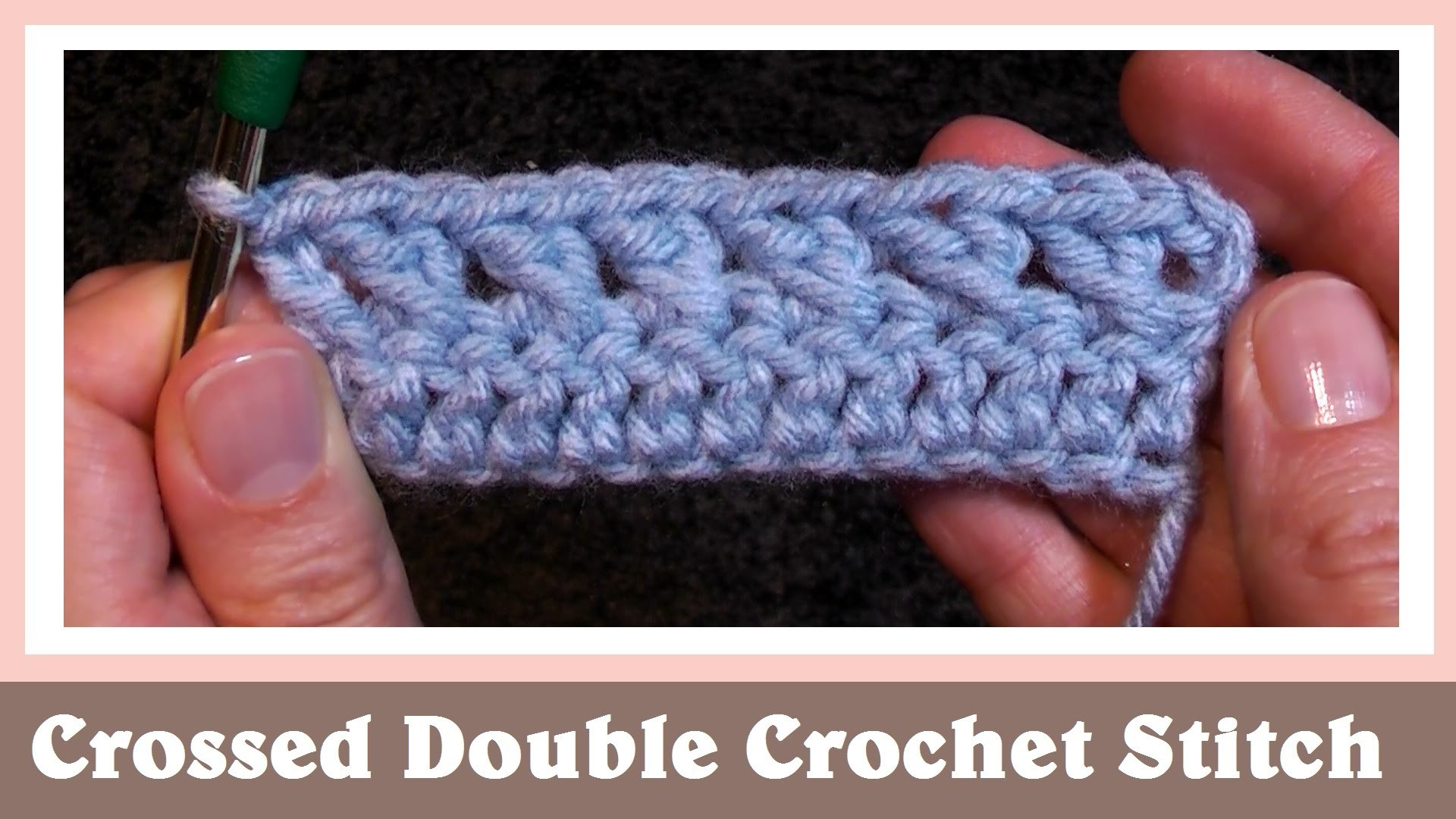 Crossed Double Crochet Stitch