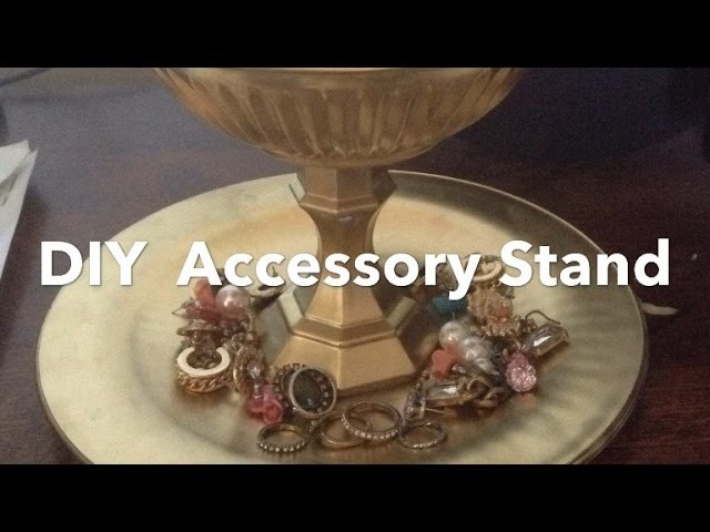 DIY  accessory stand. jewelry holder