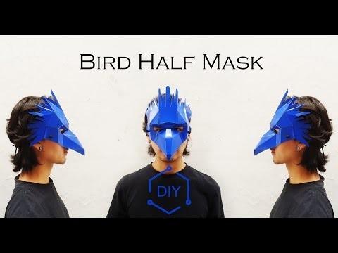 DIY - Bird Half Mask. Geometric Mask. Wintercroft