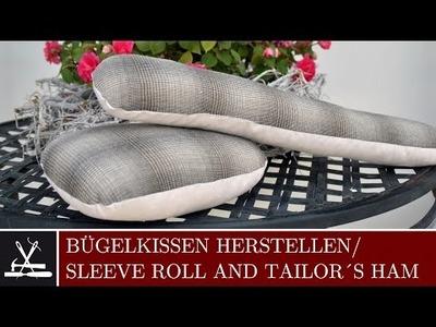 DIY Bügelkissen herstellen. How to make a sleeve roll or tailorś ham