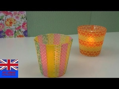 DIY Candle Holders Tutorial: Making Candle Holders with Washi Tape and Glass | Selfmade Decoration