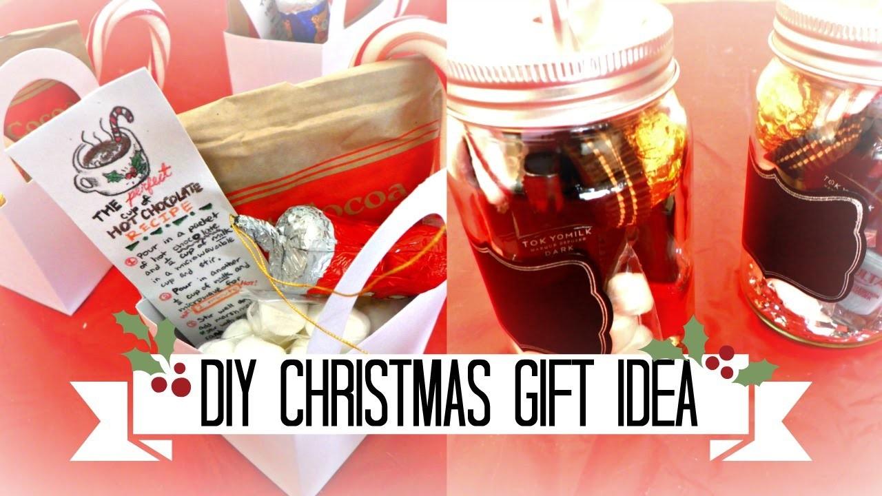 DIY CHRISTMAS HOLIDAY GIFT IDEA | HOT CHOCOLATE COCOA - Hana Cloude