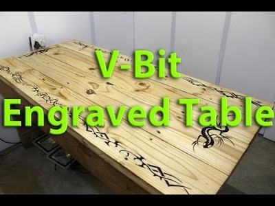 DIY CNC Router - V Bit engraving my table