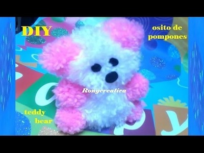 DIY CRAFT POMPOM BEAR. Ronycreativa English Channel