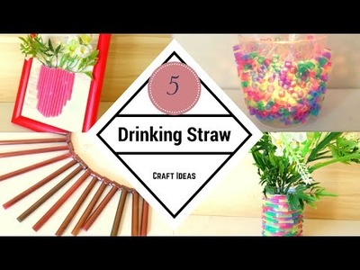DIY Five  Drinking Straw Craft Ideas | DIY Recycling | by Fluffy Hedgehog