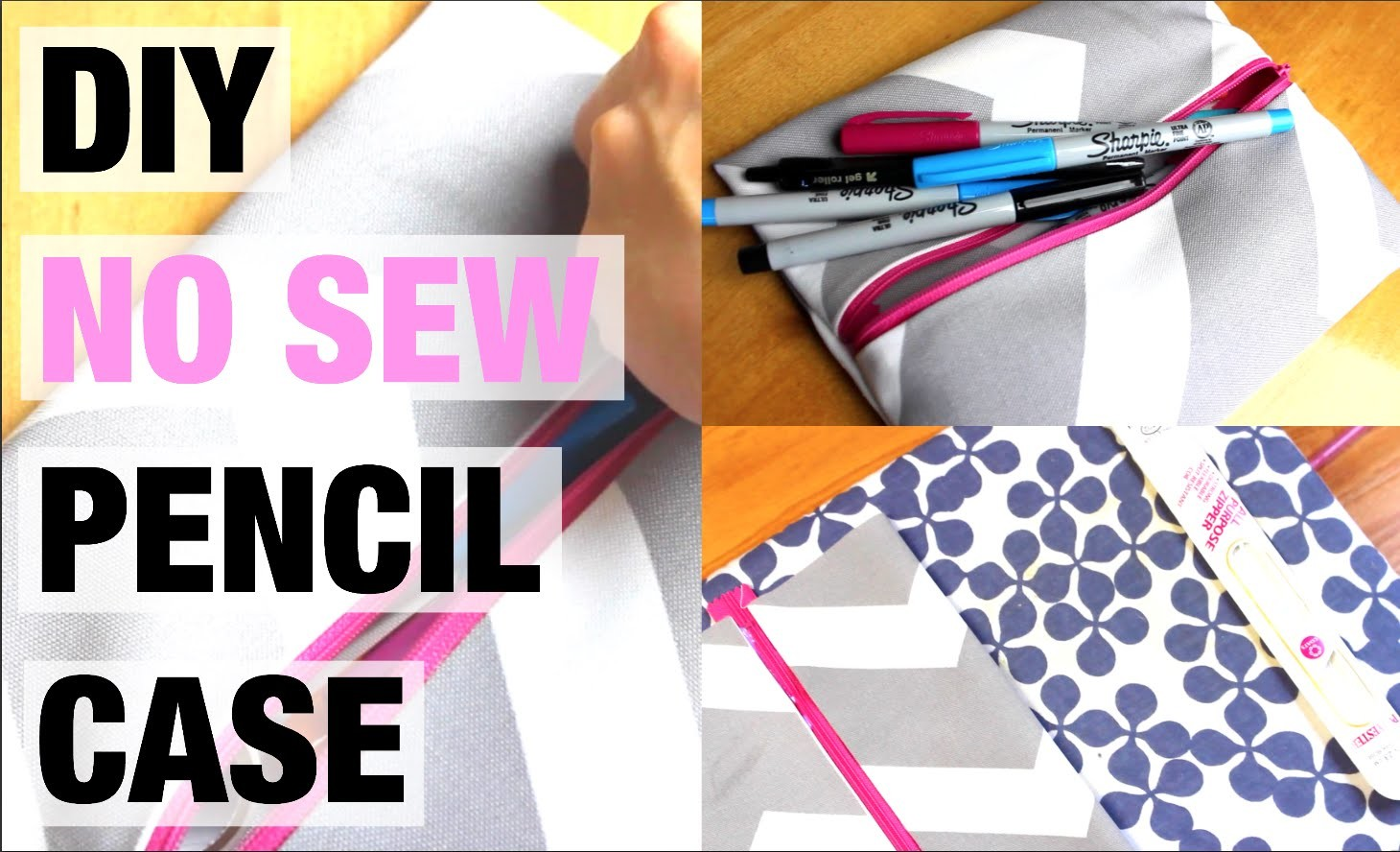 DIY FRIDAY: No Sew Pencil Case (Easy and Fun!)