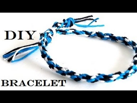 {DIY} Friendship Bracelet ( Cardboard and Thread)
