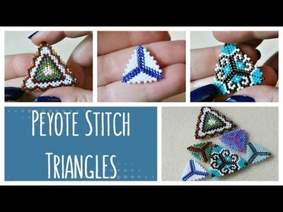 DIY Peyote Stitch Triangles How To. Bead Weaving. ¦ The Corner of Craft