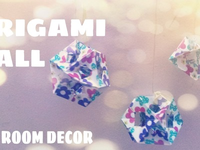DIY Room decor - Paper Ball Ornament (Modular Origami)