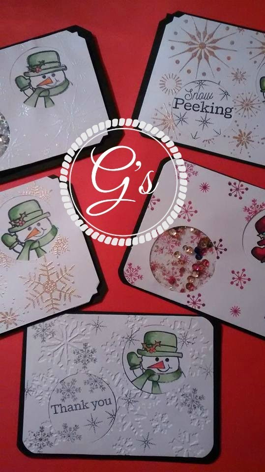 """DIY.tutorial Christmas 2015 card #2 """"peek a boo card #1"""" featuring a Maymay made it stamp set!"""
